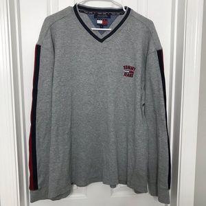 Tommy Hilfiger Jeans Gray Striped Crew Sweatshirt